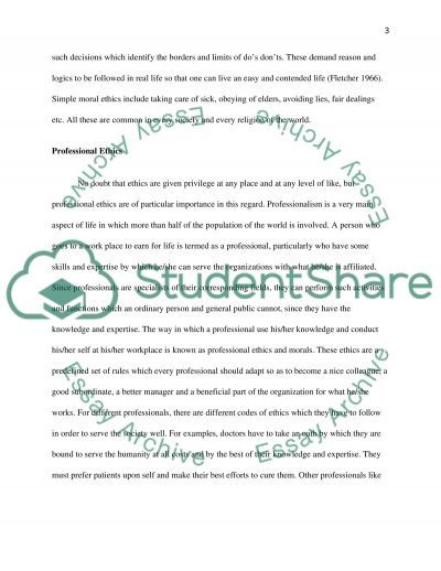 Sincerity and Professional Ethics essay example