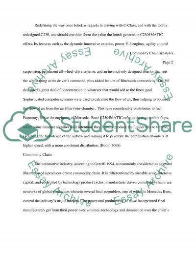 Commodity Chain Analysis essay example