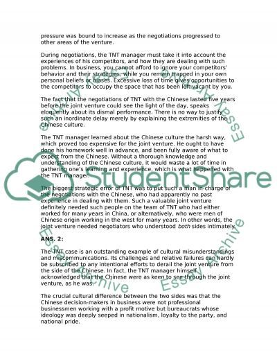 Business Culture Environment Essay example