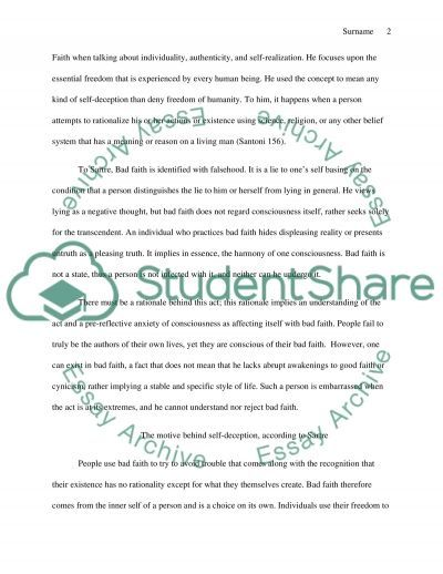 Bad Faith Admission/Application Essay example