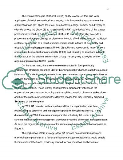 Corporate Strategy Assessment: British Airways Essay example