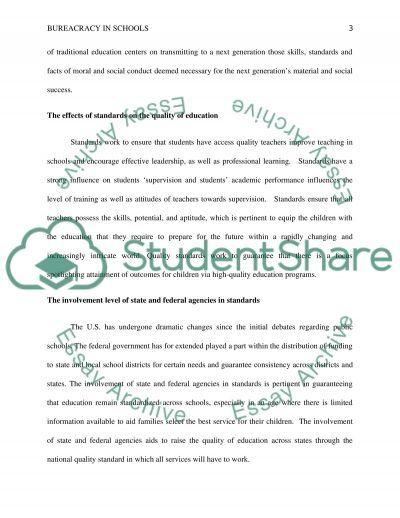 Assignment 3: Bureaucracy in Schools essay example