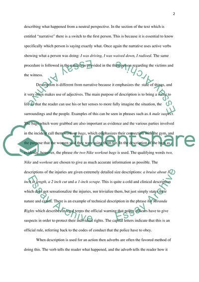 Rhetorical Analysis of Student Writing