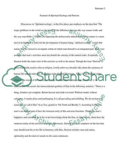 Political Science Essay Topics Compare Philosophical Daoist Notions Of Nature With The Emerging Discourses  In The West Of Spiritual Ecology How To Use A Thesis Statement In An Essay also Argumentative Essay Topics On Health Compare Philosophical Daoist Notions Of Nature With The Emerging Essay Persuasive Essay Sample Paper
