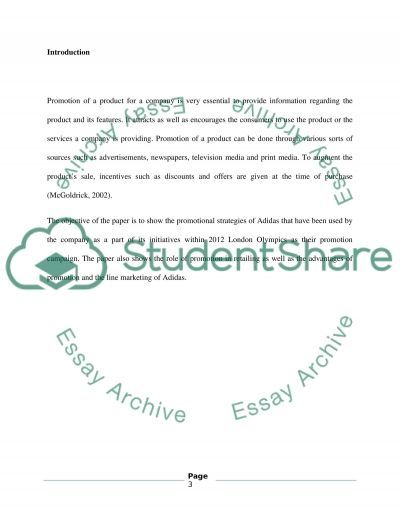 Role of Promotion in Retailing essay example