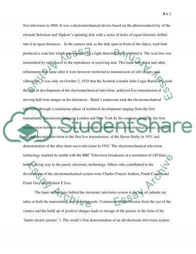 The History and Development of Television essay example