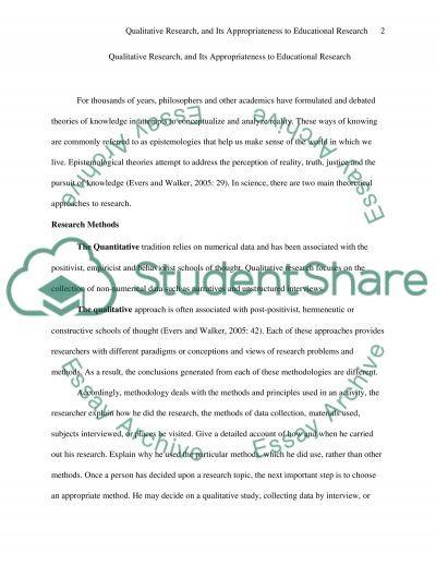 Qualitative Research Master Essay
