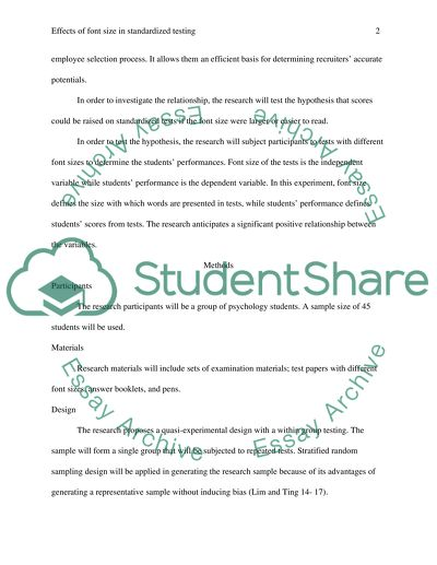 Effects of Font Size in Standardized Testing