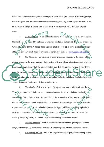 Case study for surgical technologist student