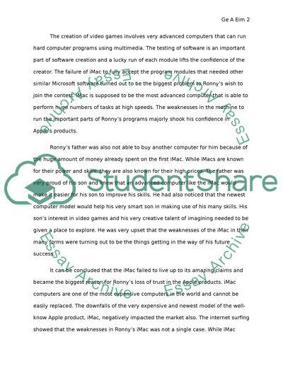 Imac essay example