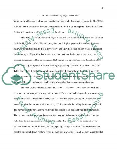 the tell tale heart by edgar allan poe essay example topics and the tell tale heart by edgar allan poe essay example