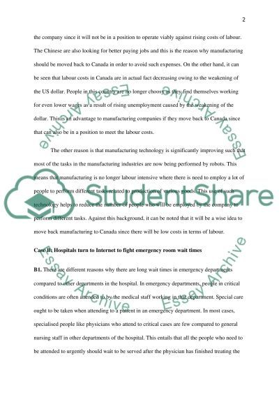 Project Management: Case Study essay example