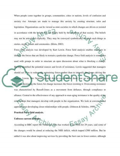 Managing strategic change essay example