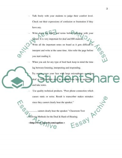 Communication Disorders essay example