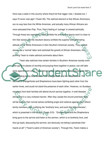 adventures of huckleberry finn essay