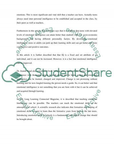 Helping teens grow emotionally essay example