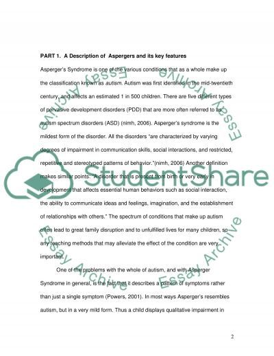 Meaning of Labels Aspergers Syndrome essay example