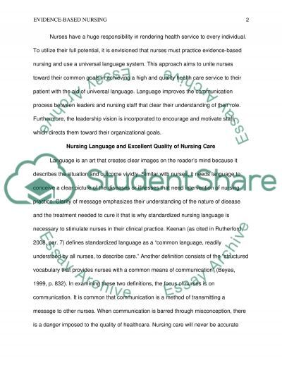 Vision for nursing essay example