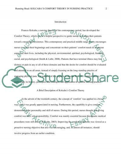 Middle Range Nursing Theory essay example