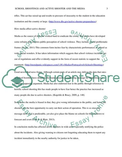 School shooting essay