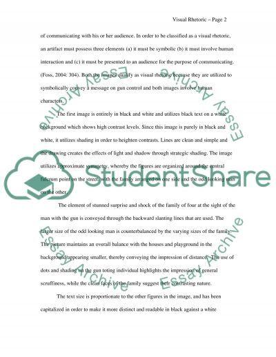 Visual Rhetoric essay example
