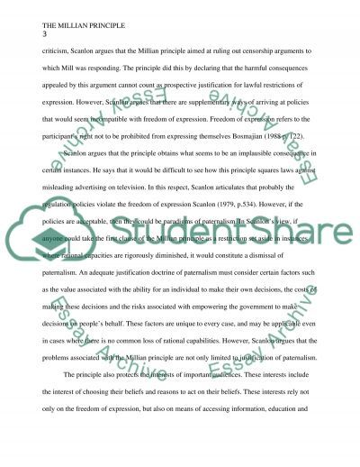 The Criticisms of Scalons Millan Principle essay example