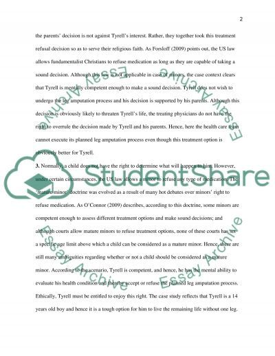 Case Study Analysis: Ethical Issues essay example
