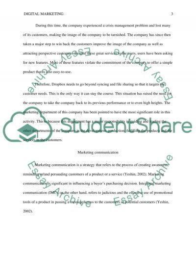 Internet and Digital Marketing Communications essay example