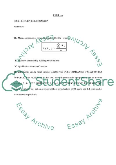 Groupbased assignment for Financial data analysis