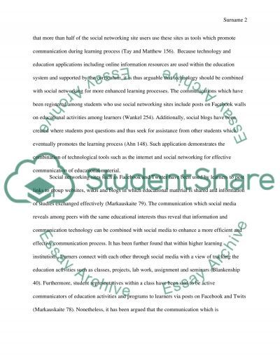 Social Media and Technology in Learning essay example