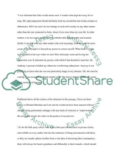 Rivals essay example