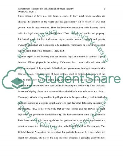 Sports Industry essay example