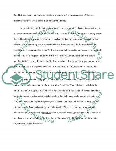 inception movie essay example topics and well written essays  inception movie essay example
