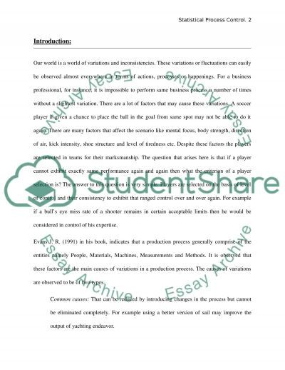 Statistical Process Control essay example