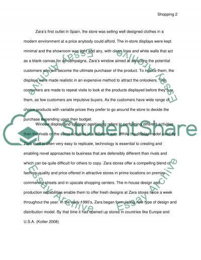 Windowsshopping at Zara essay example