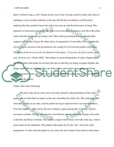 city of god essay example topics and well written essays  text