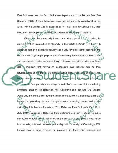 IMC Proposal London Zoo Marketing essay example