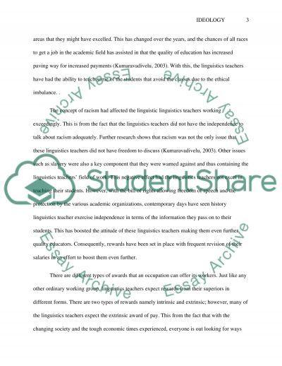Ideology essay example