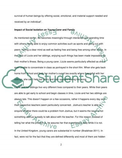Supporting families and carers essay example