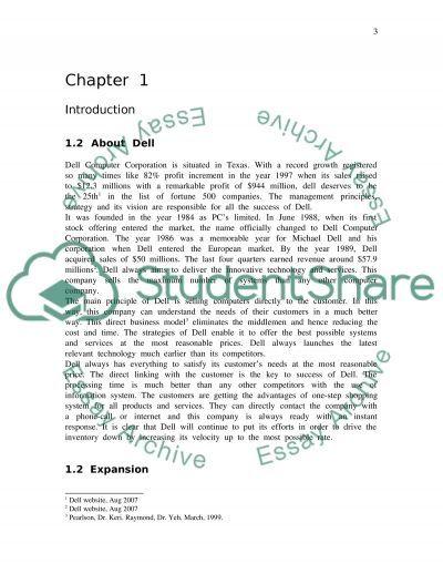 Dell Computer Corporation essay example
