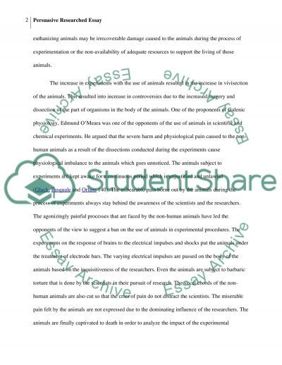 Persuasive Researched Essay