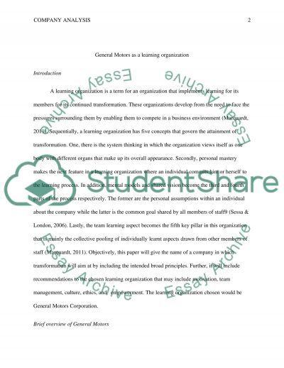 M1A3 - Organizatinal Behavior essay example