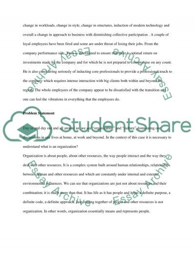 Organizational Culture and Leadership Change essay example