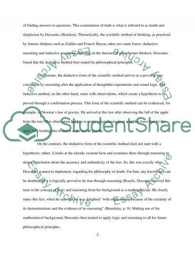 Philosophy essay example