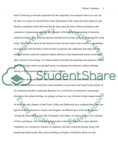 The Discovery of Society essay example