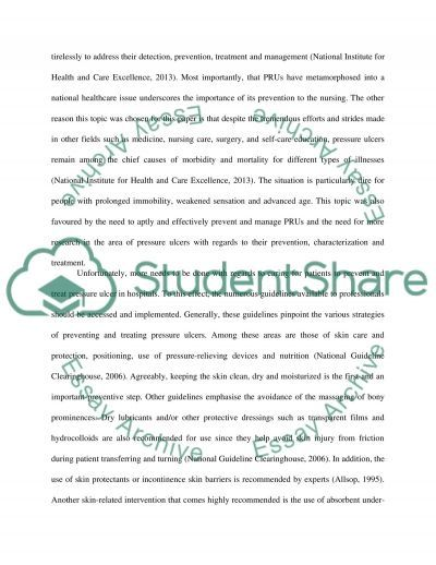 Nurses Role in preventing pressure Ulcers essay example