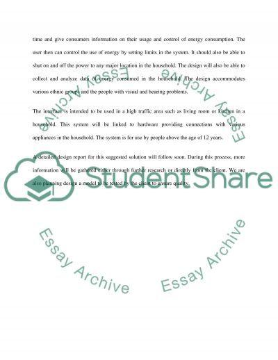 Conceptual Design Specification essay example