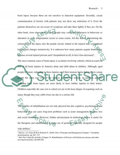 Brain Injury essay example