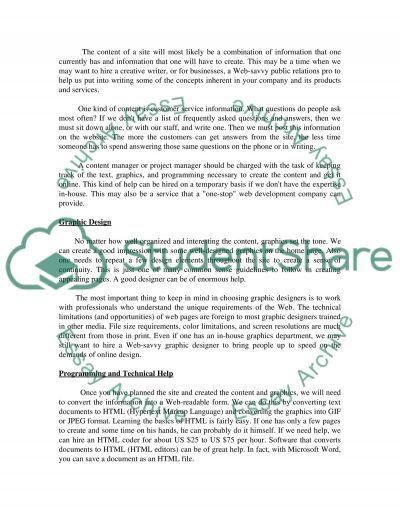 Building website essay example