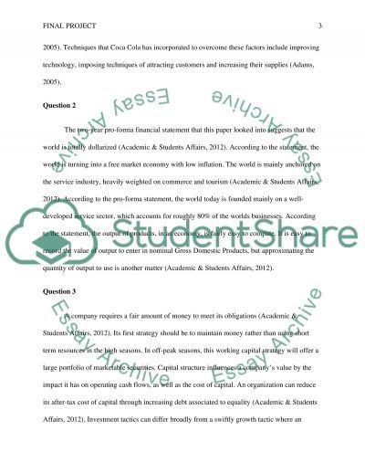Final Project essay example